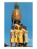 Hawaiian Women with Pineapple Tower