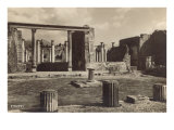 Columns and Ruins in Pompeii