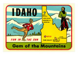 Idaho  Gem of the Mountains  Map