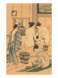 Japanese Woodblock  Public Baths