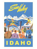 Sun Valley  Idaho  Graphic of Winter Resort Activities