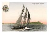 Yacht off Hawaii