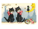 Bonne Annee  Black Cats