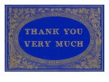 Thank You Very Much  Gold on Blue