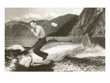 Man Riding Giant Fish