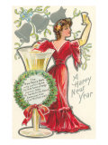 Happy New Year  Victorian Lady  Poem