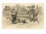 Victorian Cat Proposing  Expression d'Amour