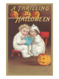 Children Reading Ghost Story