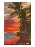Mele Kalikimaka  Sunset on Lagoon