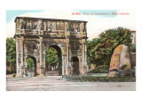 Arch of Constantine and Meta Sudans Fountain  Rome
