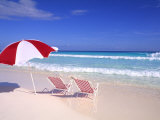 Beach Umbrella and Chairs  Caribbean