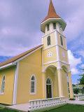 English Evangelical Church  Vaitape  Bora Bora  French Polynesia  Oceania