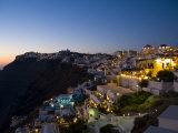 White Buildings at Night  Fira  Santorini  Greece