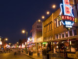 Famous Beale Street  Memphis  Tennessee  USA