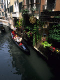 Gondola Ride on Canal  Venice  Italy