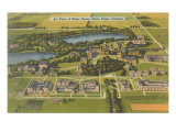 Aerial View of Notre Dame University  Indiana
