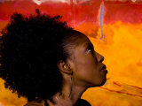 Woman's Colorful Profile  Cameroon