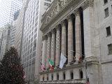 New York Stock Exchange at Christmas  New York City  New York  USA