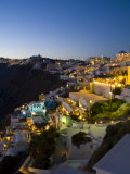 White Buildings at Night  Fira  Santorini  Greece