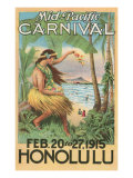 Mid-Pacific Carnival Poster  Hawaii