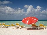 Sun Loungers and Umbrellas  Isla Mujeres  Quintana Roo  Mexico