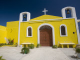 Small Yellow Chapel  Puerto Telchac  Yucatan  Mexico