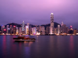 Hong Kong Skyline with Victoris Peak  China