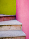 Stairs and Colorful Walls  San Miguel  Guanajuato State  Mexico
