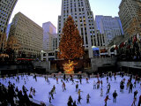 Rockafeller Center at Christmas  New York City  New York  USA