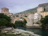 The Old Bridge Stari Most  Mostar  Bosnia-Hercegovia