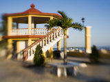 A Gazebo Along The Promenade  San Felipe  Yucatan  Mexico