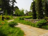 Stone Path at Chanticleer Garden  Wayne  Pennsylvania  USA