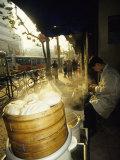 Dumpling Seller  Shanghai  China
