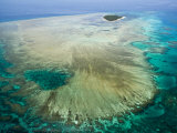 Aerial View of Green Island  The Great Barrier Reef  Cairns Area  North Coast  Queensland