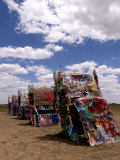 Cadillac Ranch with Buried Cars  Amarillo  Texas  USA