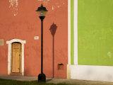 Lamppost and Doorway  Valladolid  Yucatan  Mexico
