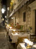 Couple dining in outdoor caf&#233;  Dubrovnik  Dalmatia  Croatia