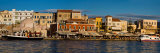 Evening Light along the Old Harbor  Chania  Crete  Greece