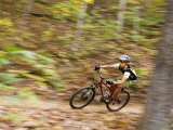 Mountain Biking on the Thompson Loop  Tsali Recreation Area  North Carolina  USA