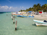 Fishing Boats Tied Up  Isla Mujeres  Quintana Roo  Mexico