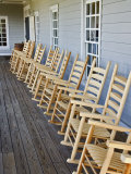 Wooden Rocking Chairs  Labrot & Graham Distillery  Kentucky  USA