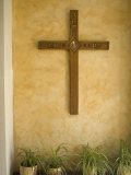 Christian Cross On Adobe Wall  Cuenca  Ecuador