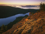 Sunrise from Mt Constitution  Moran State Park  Orcas Island  Washington  USA