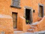 Orange Stucco House  San Miguel  Guanajuato State  Mexico