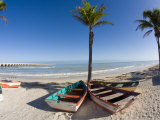 Beach of Progreso  Yucatan  Mexico
