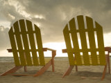 Lounge Chair Facing Caribbean Sea  Placencia  Stann Creek District  Belize