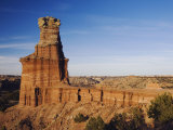 Lighthouse at Sunset  Palo Duro Canyon State Park  Canyon  Panhandle  Texas  USA