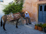 Resting Elderly Gentleman  Oia  Santorini  Greece