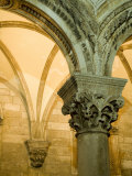 Stone arches and columns at entrance to Rector's Palace  Dubrovnik  Dalmatia  Croatia