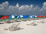 Sun Loungers and Umbrellas  Isla Mujeres  Quintana Roo  Mexico